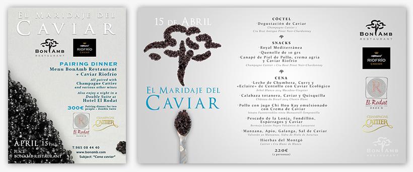 carteles-evento-caviar-bonamb-restaurant-insertcom